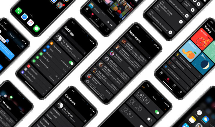 "iPhone X : un concept imagine un ""vrai"" mode sombre"