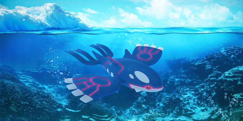 kyogre pokemon go 1024x512 - Pokémon Go : plus que 2 heures pour attraper le légendaire Kyogre !