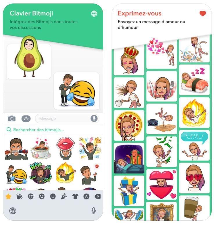 App du jour : Bitmoji (iPhone - gratuit)