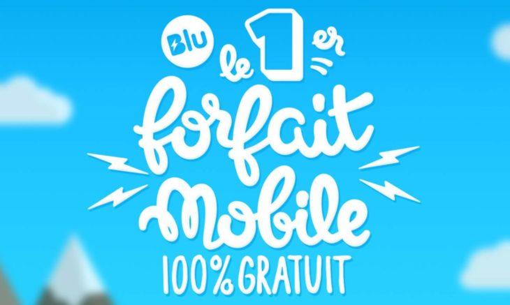 Blu : le 1er forfait mobile 4G 100% gratuit, par Prixtel