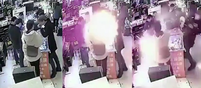 Chine : il mord dans sa batterie d'iPhone et la fait exploser