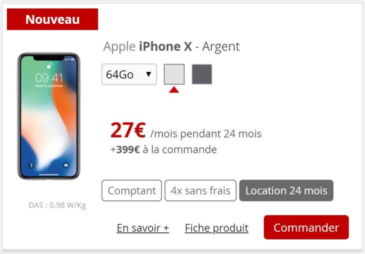 Free Mobile propose maintenant de louer un iPhone X