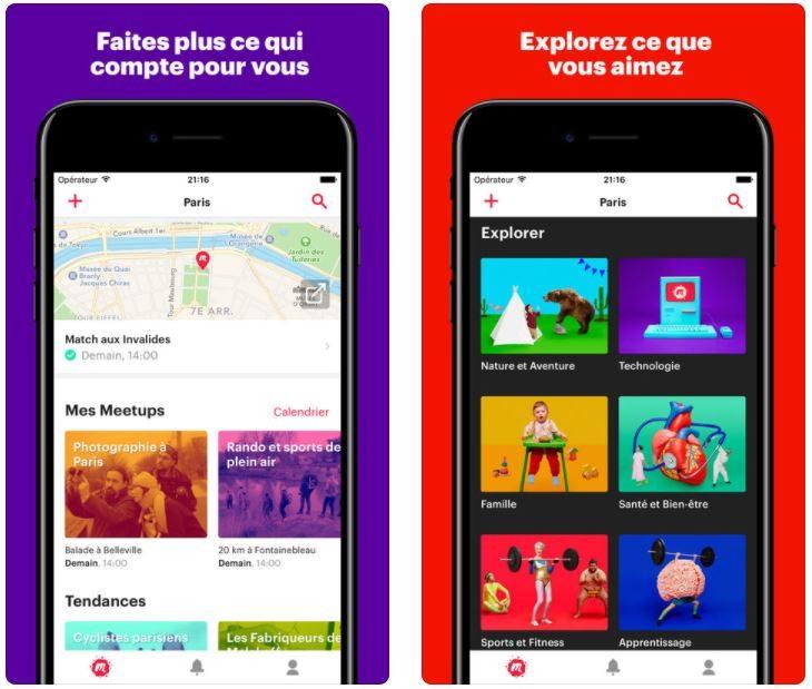 App du jour : Meetup (iPhone – gratuit)