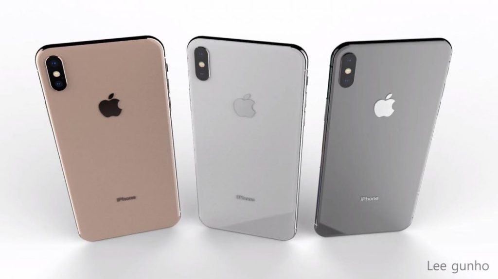 Concept iPhone X Plus Or 1024x575 - Concept : un iPhone X Plus dual SIM en 3 coloris, dont l'or