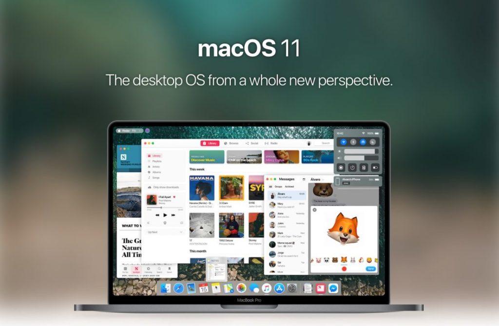 Concept macOS 11 Alvaro Pabesio 1024x669 - macOS 11 : un concept imagine les potentielles nouveautés