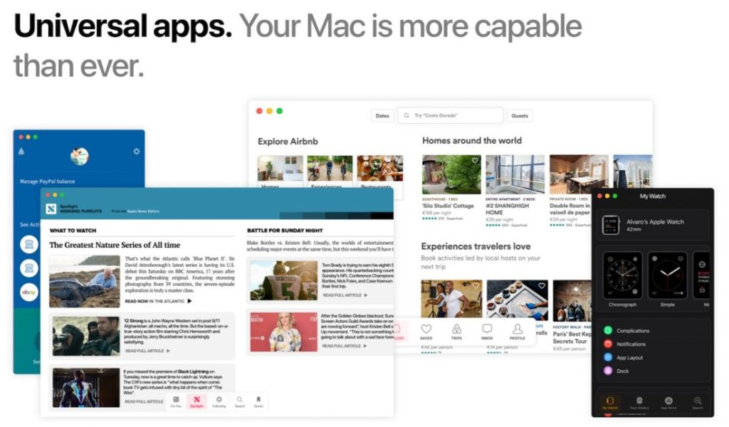 Concept macOS 11 Applications Universelles 1100x645 1024x600 - macOS 11 : un concept imagine les potentielles nouveautés