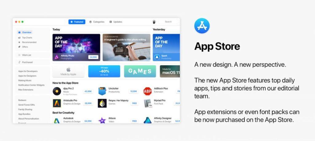 Concept macOS 11 Nouvel App Store 1100x492 1024x458 - macOS 11 : un concept imagine les potentielles nouveautés