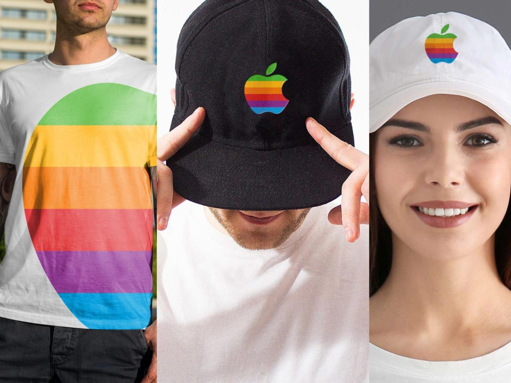 apple vetements logo arc en ciel 1024x768 - Apple pourrait lancer une ligne de vêtements avec un logo arc-en-ciel