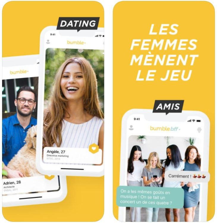 App (de rencontre) du jour : Bumble, les femmes mènent le jeu