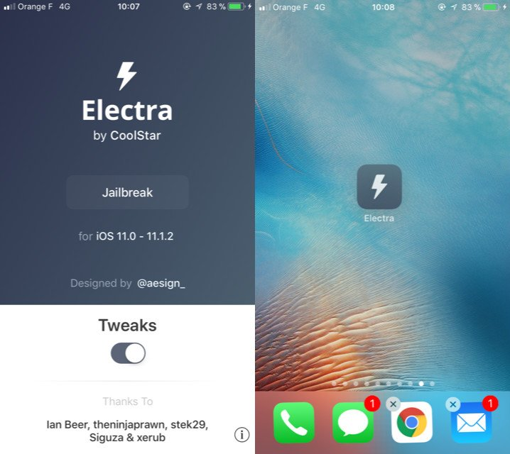 jailbreak iOS 11 iOS 11 1 2 Electra Cydia - Tutoriel Electra : Jailbreak iOS 11 à iOS 11.1.2 (iPhone, iPad, iPod Touch)
