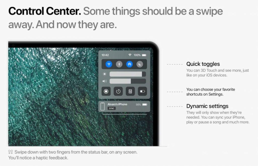 macOS 11 Concept Centre de Controle 1100x708 1024x659 - macOS 11 : un concept imagine les potentielles nouveautés