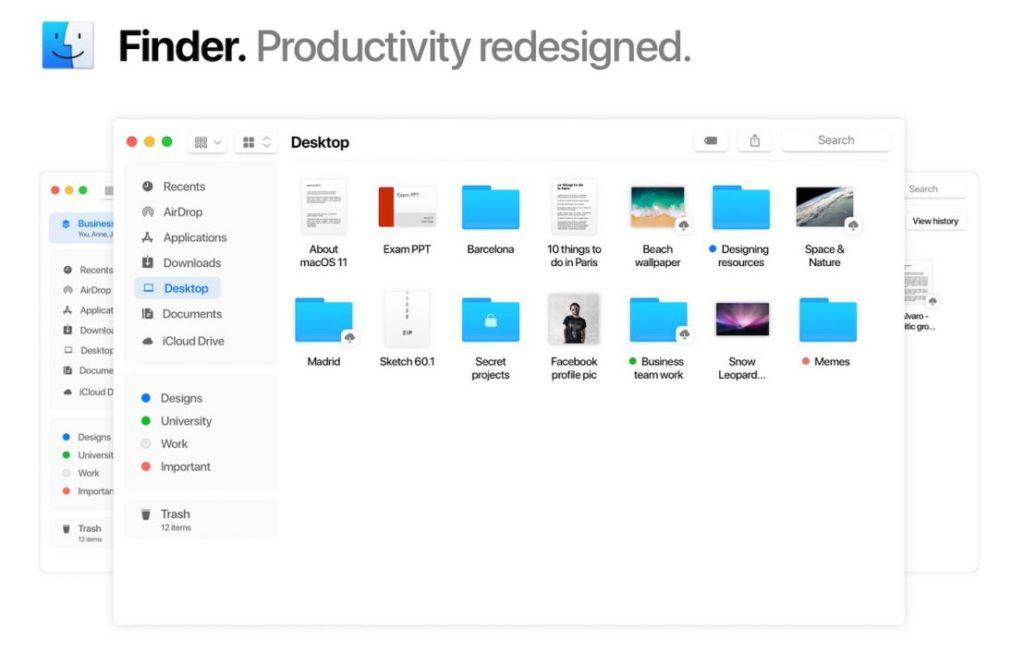 macOS 11 Concept Nouveau Finder 1108x720 1024x665 - macOS 11 : un concept imagine les potentielles nouveautés