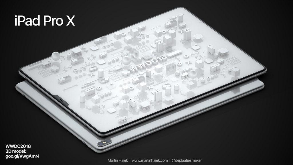 martin hajek concept ipad pro x 1024x576 - iPad Pro X : un concept de tablette Apple au design de l'iPhone X