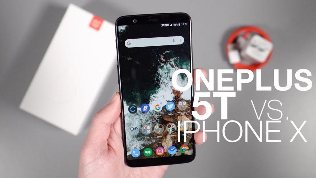 oneplus 5t vs iphone x 1024x576 - Comparaison : des gestuelles de l'iPhone X reprises sur le OnePlus 5T