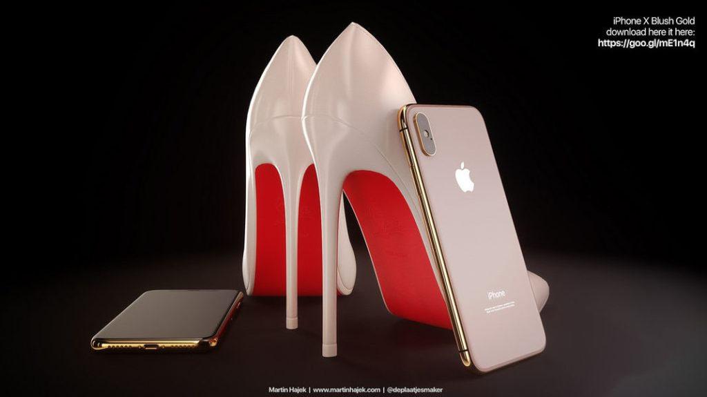 Des iPhone X assortis avec des Louboutin dans un concept