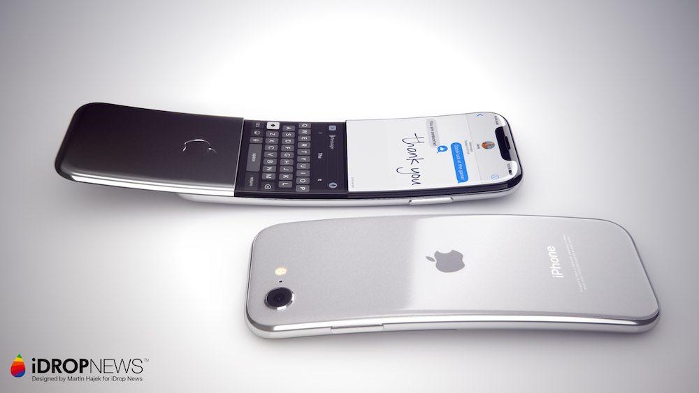 Curved iPhone Concept iDrop News x Martin Hajek 1 - Concept : un iPhone incurvé à clapet imaginé par Martin Hajek