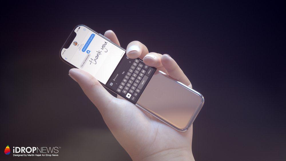 Curved iPhone Concept iDrop News x Martin Hajek 5 - Concept : un iPhone incurvé à clapet imaginé par Martin Hajek