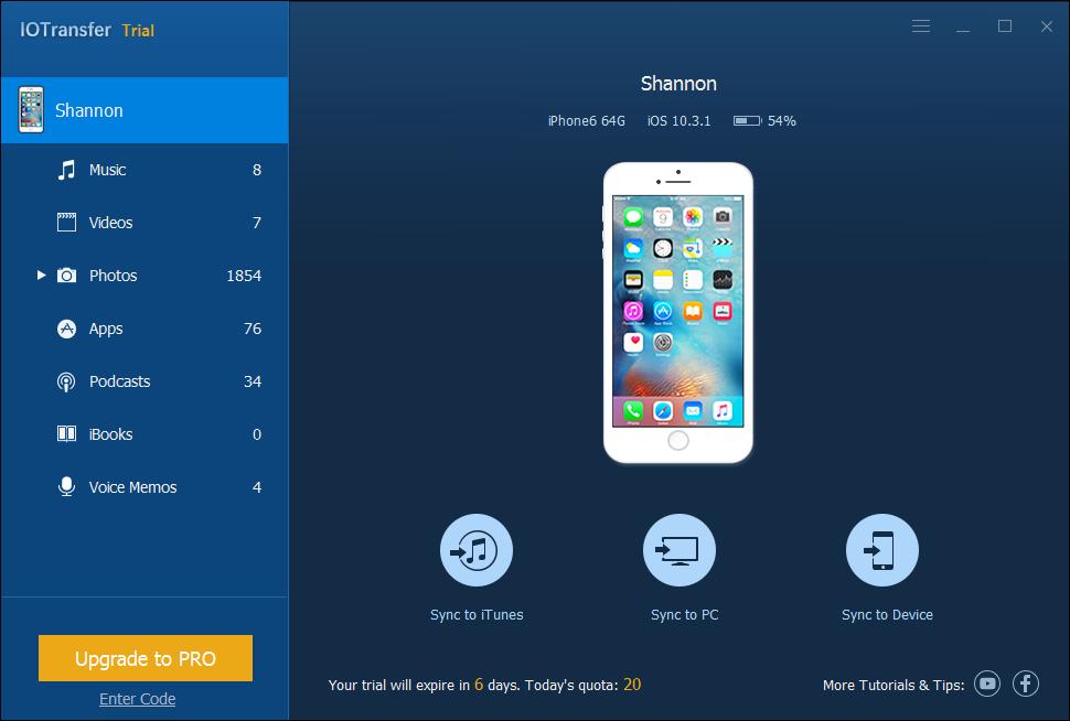 IOTransfer : le transfert facile de fichiers entre appareils iOS, PC & iTunes