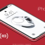 Concept : l'iPhone X (PRODUCT)RED rouge vu par Martin Hajek