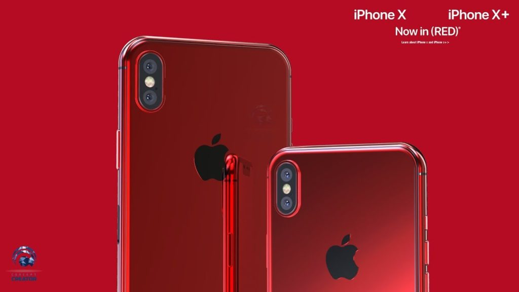 iphone x product red concept 1024x576 - Concept : des iPhone X & iPhone X Plus rouges (PRODUCT)RED