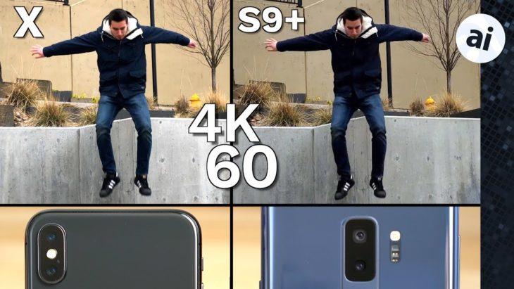 iPhone X vs Galaxy S9+ : comparatif des performances vidéo