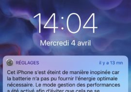 iPhone : enfin une notification de bridage des performances
