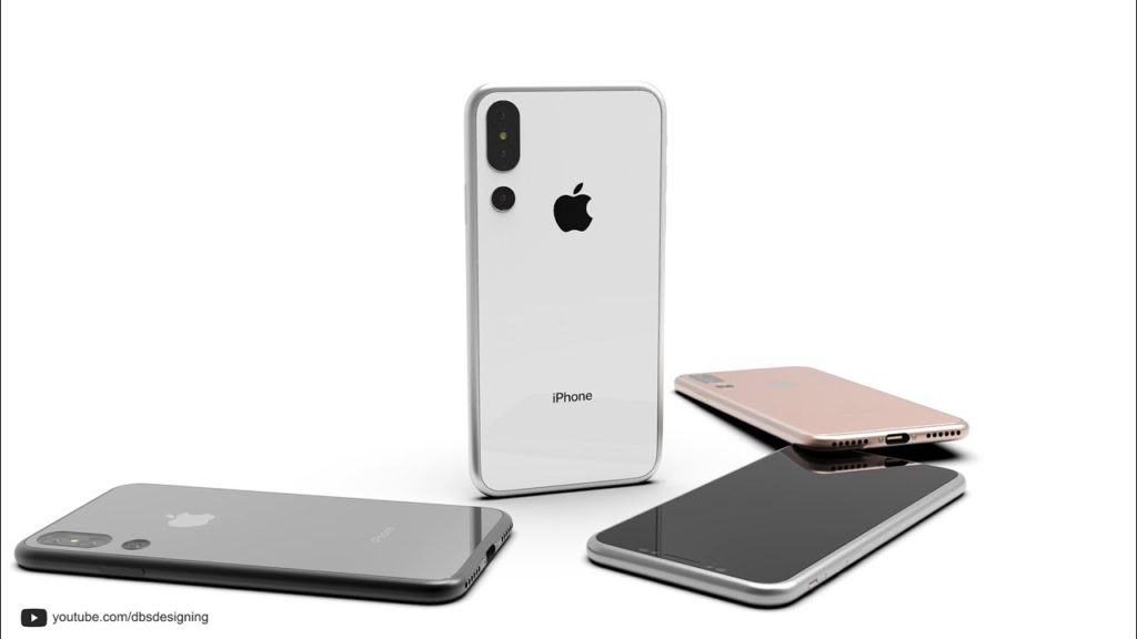 concept iphone x DBS Designing 1024x576 - iPhone X de 2018 : un nouveau concept avec un triple capteur photo