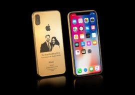 Insolite : un iPhone X en or à 4100$ en l'honneur du mariage princier