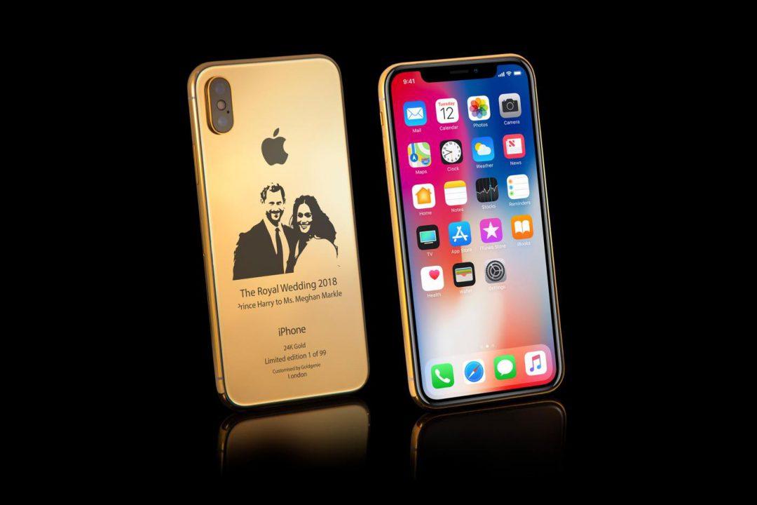 iPhone X Or 24 Carats Mariage Princier - Insolite : un iPhone X en or à 4100$ en l'honneur du mariage princier