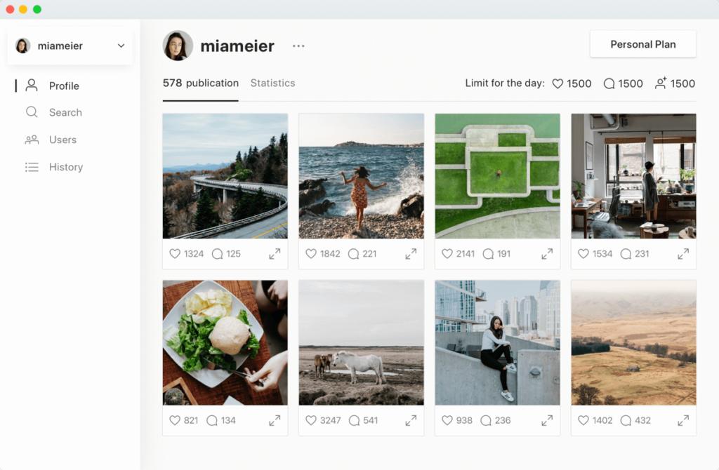 Combin profil 1024x670 - Combin : un logiciel gratuit pour gagner de vrais followers Instagram
