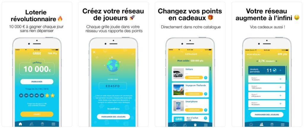 GRIDZ lotterie application iphone 1024x436 - GRIDZ : l'app de loterie révolutionnaire, 10 000€ à gagner chaque jour !