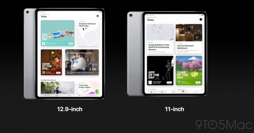 Concept iPad Pro 2018 1100x577 1024x537 - Concepts : 9to5Mac imagine l'iPad 11 pouces & l'Apple Watch Series 4
