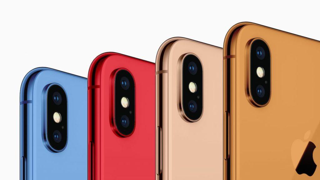 Concept iPhone 2018 Couleurs 1100x619 1024x576 - EEC : Apple a enregistré les 3 iPhone de 2018 & 2 nouveaux iPad