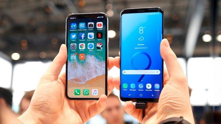 iPhone X vs Galaxy S9 739x416 - Le taux de fidélité des utilisateurs de l'iPhone est au plus bas depuis 2011