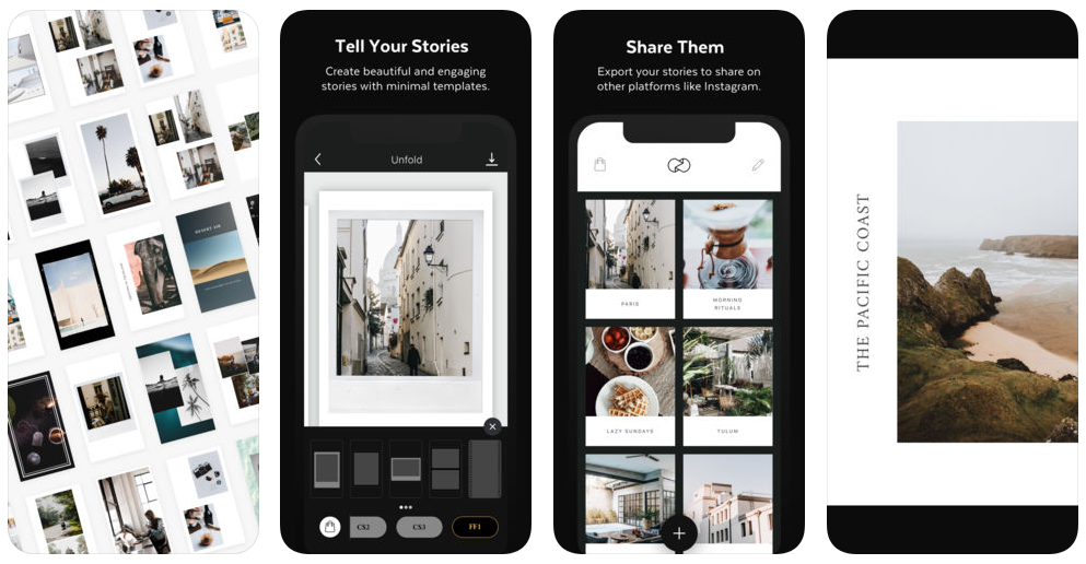 unfold create stories - App du jour : Unfold - Create Stories (iPhone - gratuit)