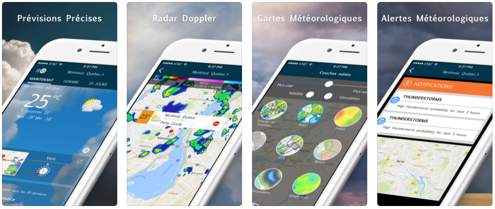 App du jour : WeatherBug - Radar & Cartes (iPhone & iPad - gratuit)
