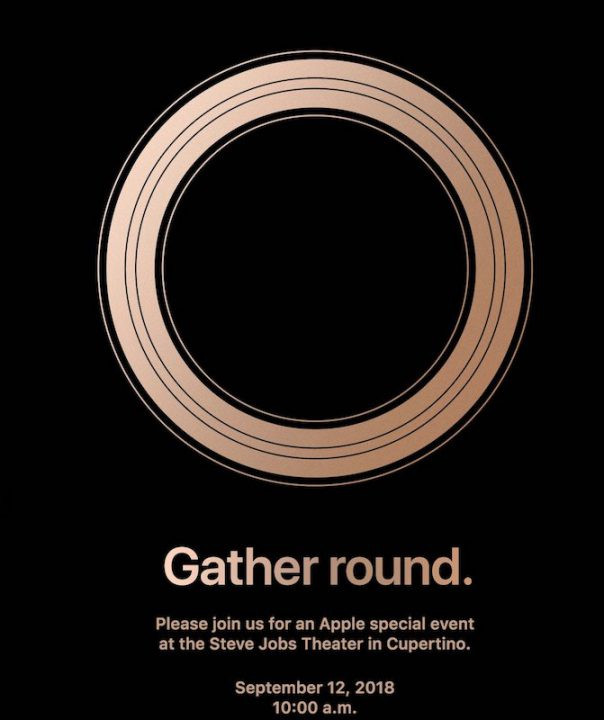 Officiel : la keynote iPhone XS & Apple Watch 4 aura lieu le 12 septembre