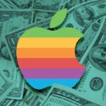 Apple Logo arc en ciel Argent Dollars 150x150 - Apple : 88,3 milliards de $ de CA au Q1 2018, ventes d'iPhone en baisse