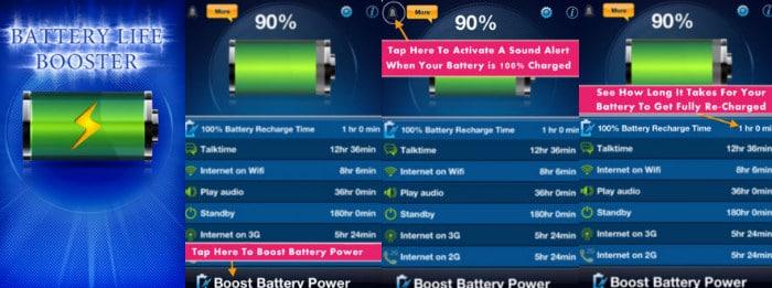 Battery Life Booster - 5 apps pour booster la batterie de votre iPhone