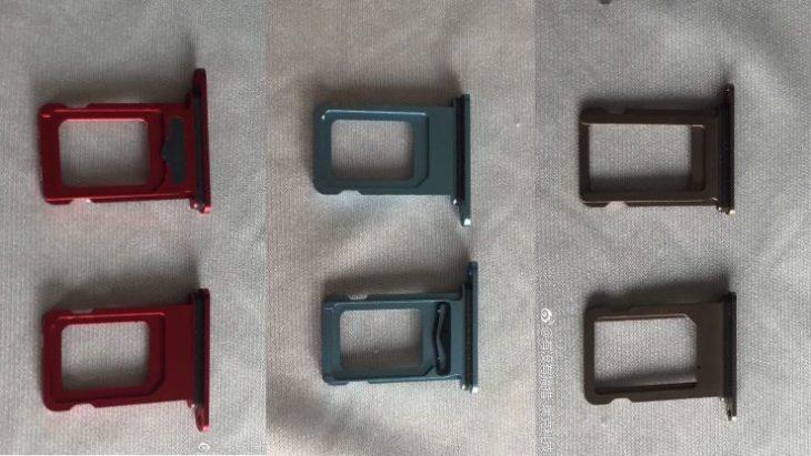 iPhone LCD 2018 : les tiroirs SIM révèlent les 6 coloris