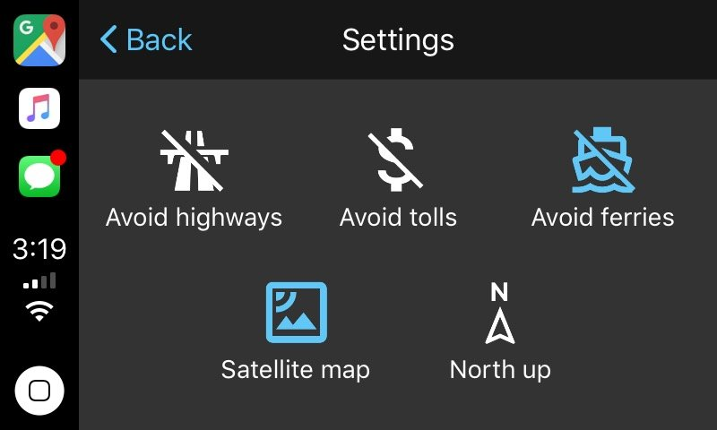 Google Maps CarPlay 5 - CarPlay : Google Maps et Waze arrivent en bêta sur iOS 12