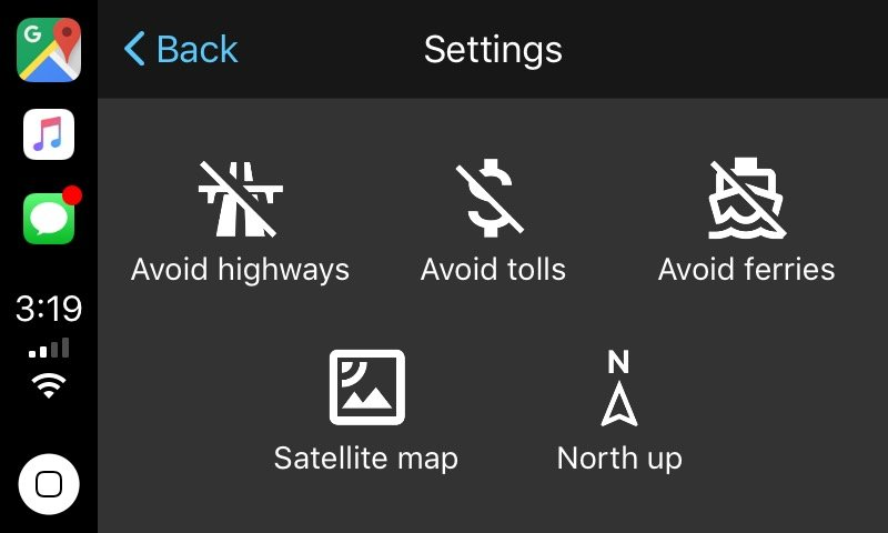 Google Maps CarPlay 6 - CarPlay : Google Maps et Waze arrivent en bêta sur iOS 12