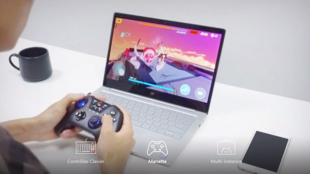 Noxplayer emulateur android manette 1024x575 - NoxPlayer : un excellent émulateur Android pour PC & Mac