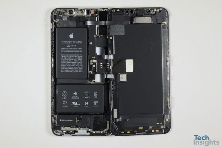 iPhone XS Max Interieur Composants Demontage 739x493 - iPhone XS Max : un coût de production estimé à 443 dollars