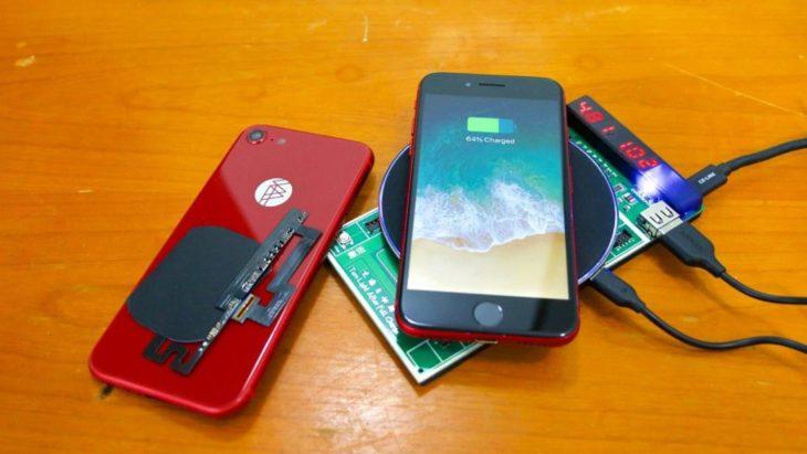 Insolite : il ajoute la recharge sans fil à son iPhone 7