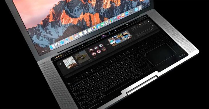 Concept : un MacBook Pro avec un clavier tactile et une énorme Touch Bar
