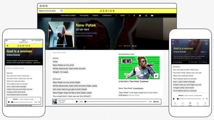 Apple Music affiche à présent les paroles des chansons de Genius