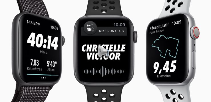 Apple Watch Series 4 Nike 739x357 - L'Apple Watch Series 4 Nike+ est disponible à l'achat