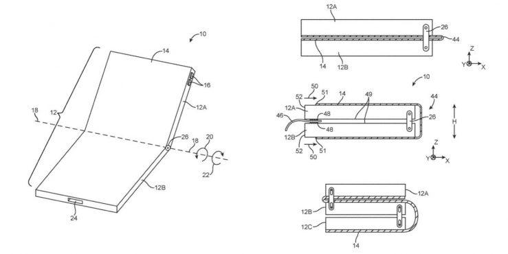 Brevet iPhone Pliable 739x370 - Apple dépose un énième brevet pour un iPhone pliable