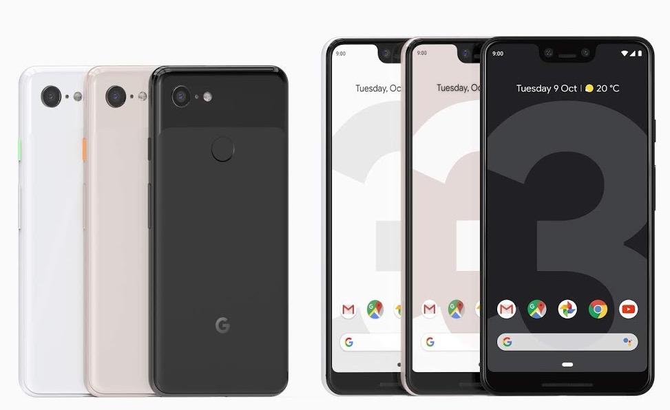 Google Pixel 3 vs Pixel 3 XL Officiel Avant Arriere - Google Pixel 3 & Pixel 3 XL : sortie en France le 2 novembre